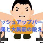 プッシュアップバー効果と大胸筋「上下部と内外側部」の鍛え方!