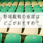 札幌ドームで野球観戦!マイペース観戦におすすめの座席は?
